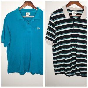 Lacoste men's short sleeve polo bundle / lot tops